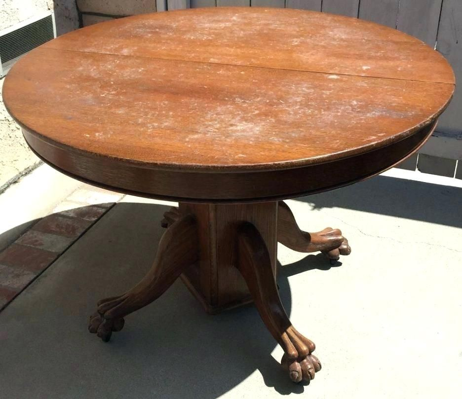 Antique Dining Room Table With Pull Out Leaves Round Dining Room Table Dining Table Round Oak Dining Table Round pedestal table with leaves