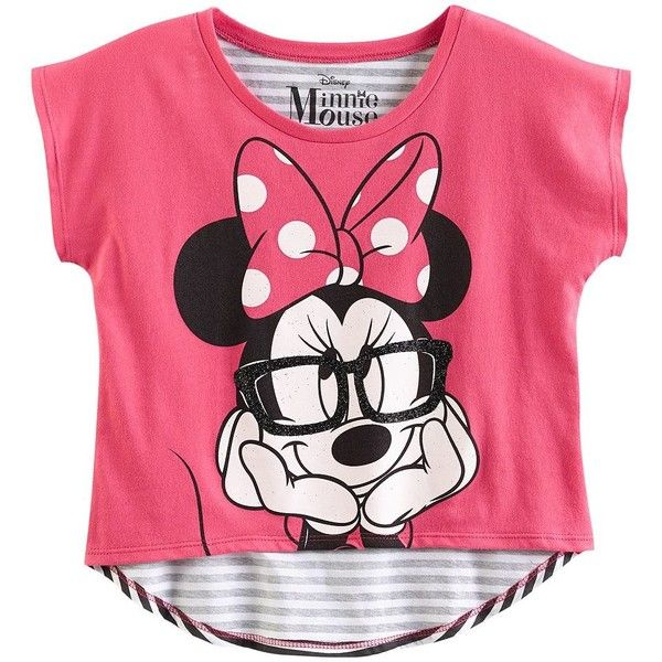 Disney Mickey Mouse Friends Minnie Mouse Tee Girls 7-16 (48 BRL) ❤ liked on Polyvore featuring kids, tops, shirts, baby girl clothes and baby