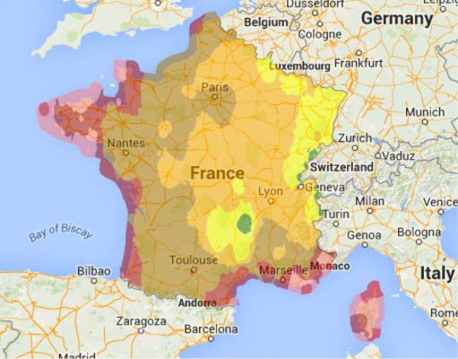 Map Of France Weather.Hardiness Zones Usda Usda Map Hardiness Zones In France France