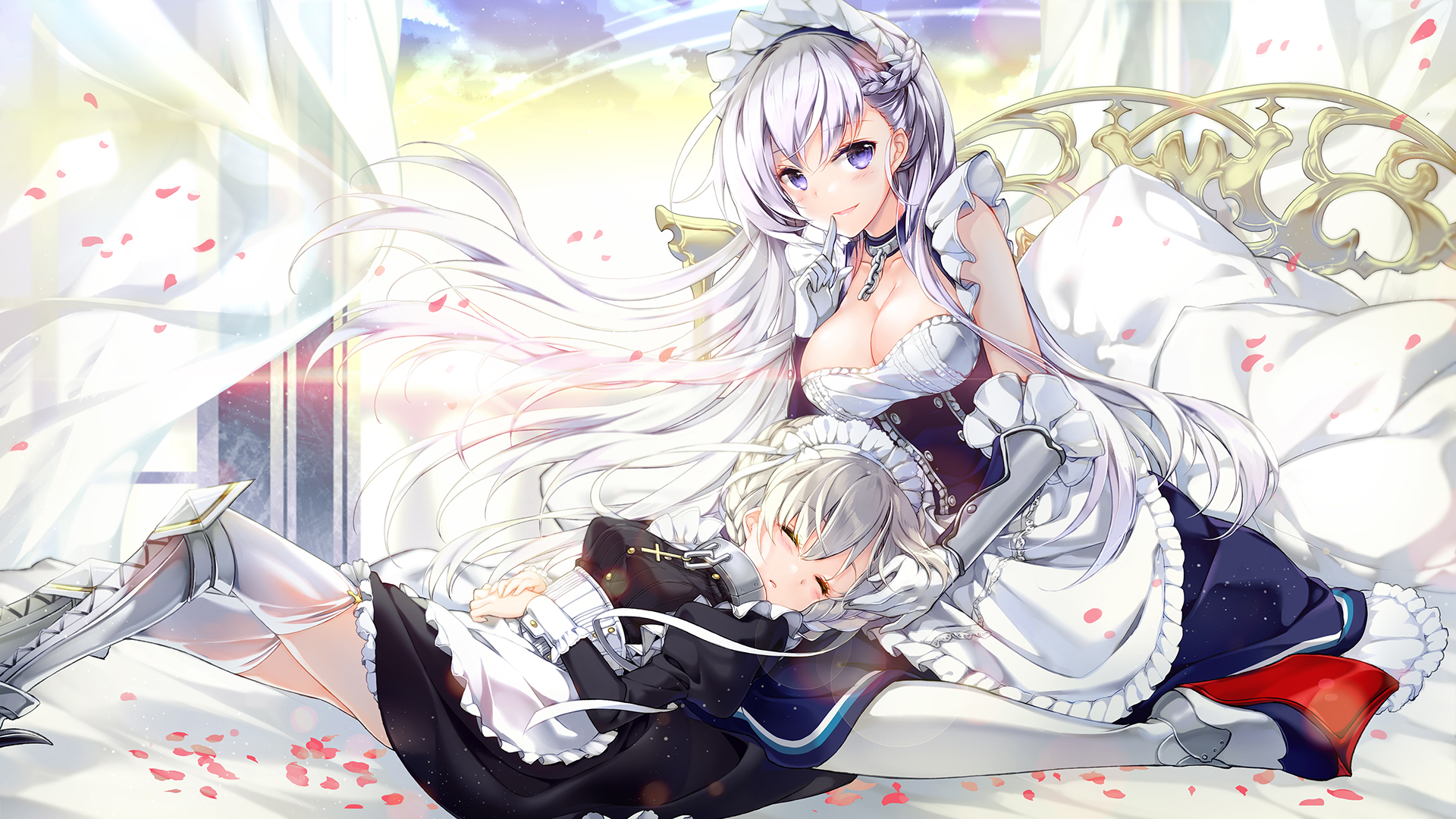 Arknights Operator Azur Lane Belfast And Enterprise Wallpaper Checkout high quality azur lane wallpapers for android, desktop / mac, laptop, smartphones and tablets with different resolutions. azur lane belfast and enterprise wallpaper