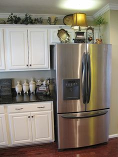 Dont Forget To Decorate The Top Of Your Fridge Kitchen Ideas