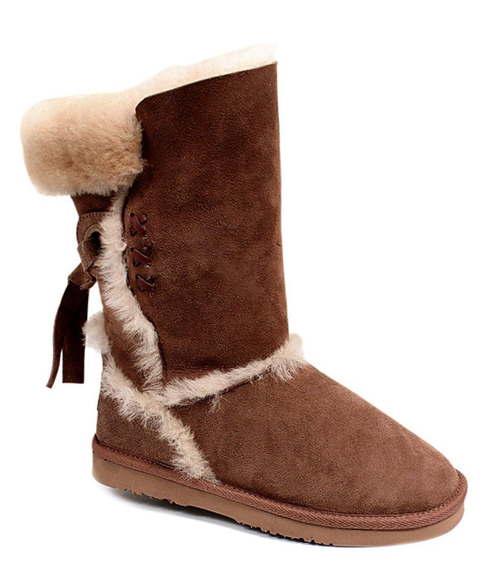 Love this Dije Chocolate Big Bear II Sheepskin Boot by Dije
