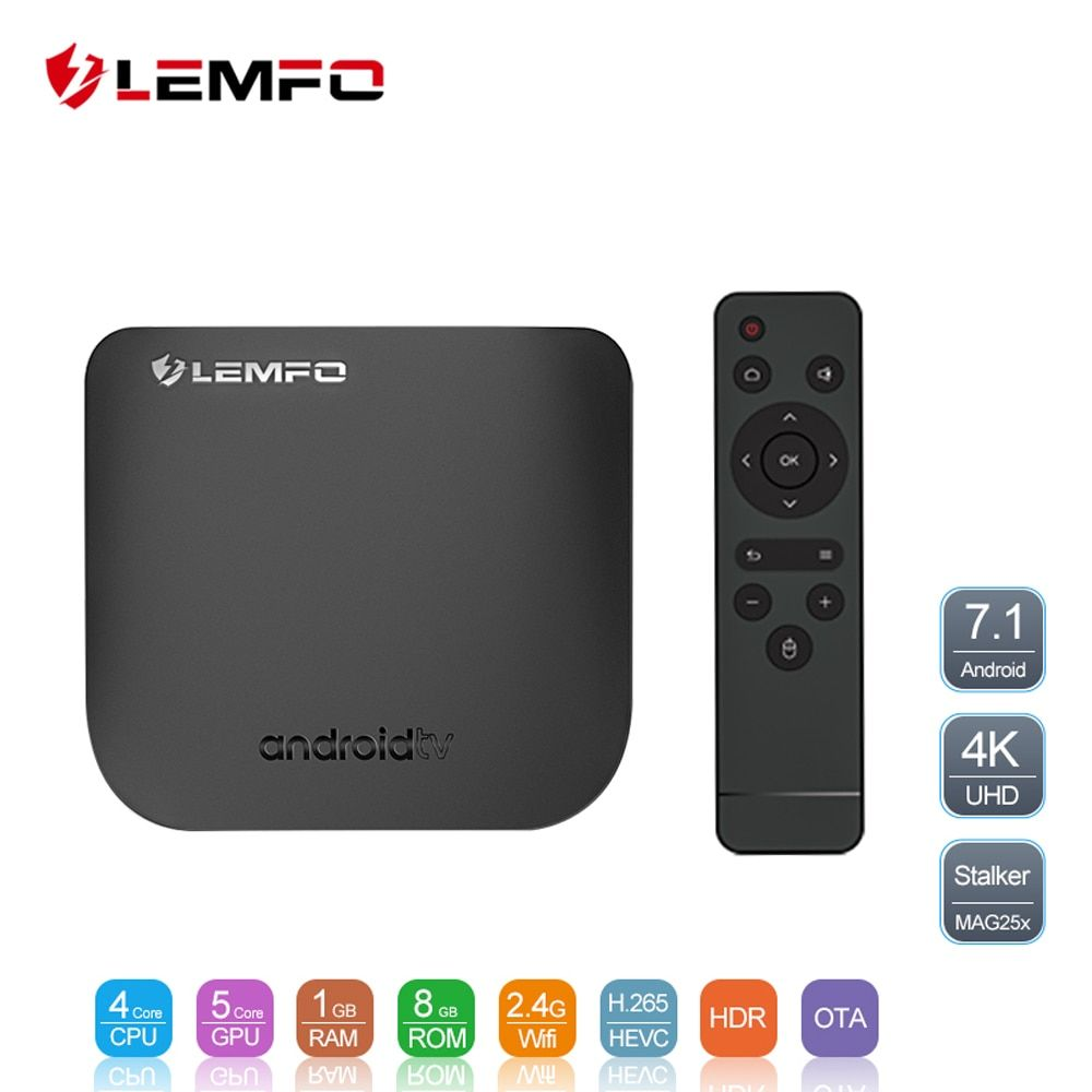 LEMFO Mini Ultrathin Smart Android TV Box Android 7.1