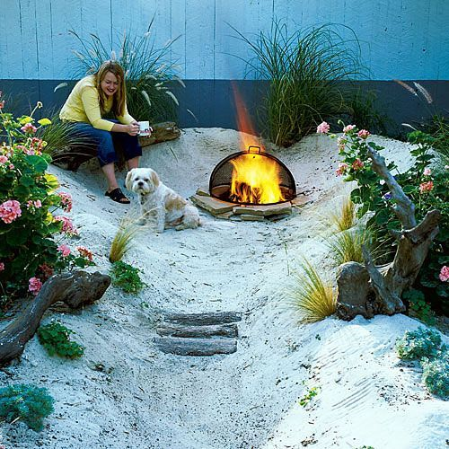 How To Build A Backyard Beach By Sink Your Toes In The Sand And Smell The Driftwood This 100 Square Foot Slice Of Beach Garten Garten Ideen Gartengestaltung