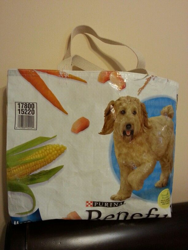 Tote I Made From A Empty Dog Food Bag Food Animals