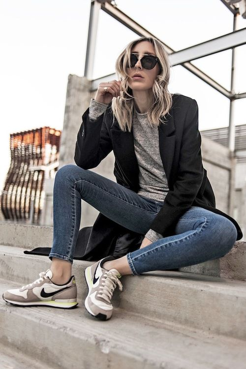 look avec nike internationalist femme