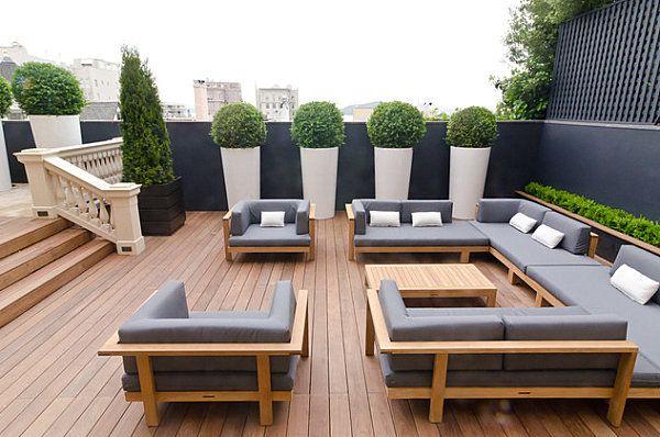 Kissen Und Auflagen Fur Gartenmobel Den Sitzkomfort Maximieren Terassenentwurf Moderne Terrassen Moderner Patio