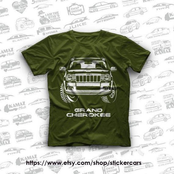 Jeep Grand Cherokee Wk Original T Shirts 100 Cotton Jeep