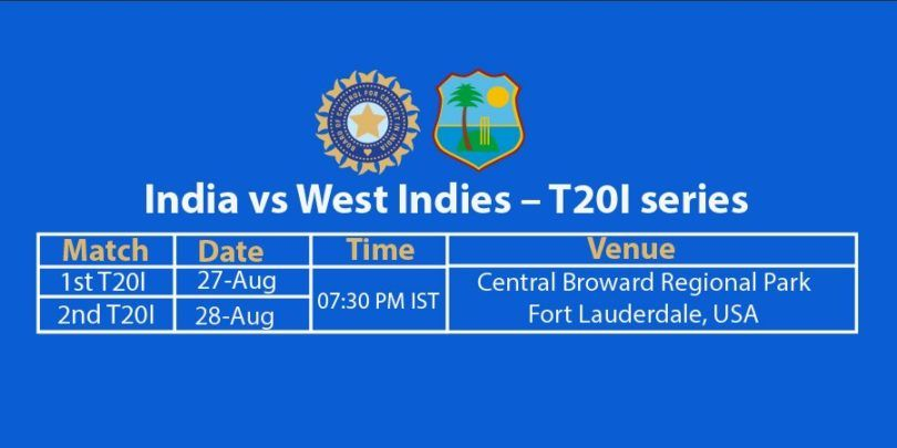 India Vs West Indies T20 Match Schedule In Usa Cricket