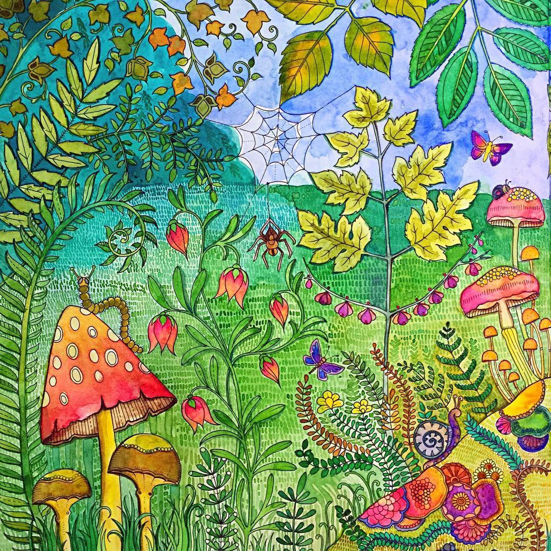 Artadultcoloring Coloring Coloringbook Colorpencils Derwent Carandache Joannabasford