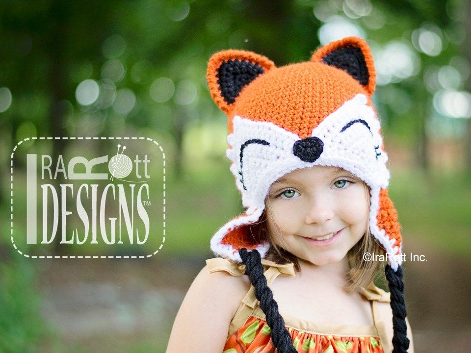 Moxie and Roxy the Red Forest Foxes Hat PDF Crochet Pattern by ...