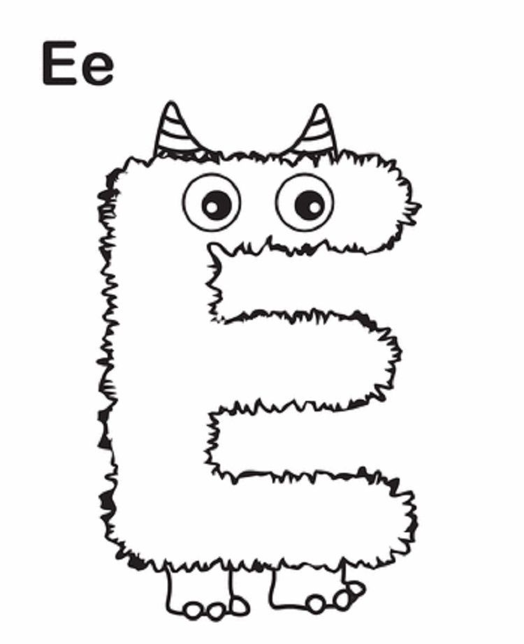 Monster Alphabet Coloring Pages In 2020 Alphabet Coloring Pages Lettering Alphabet Monster Coloring Pages