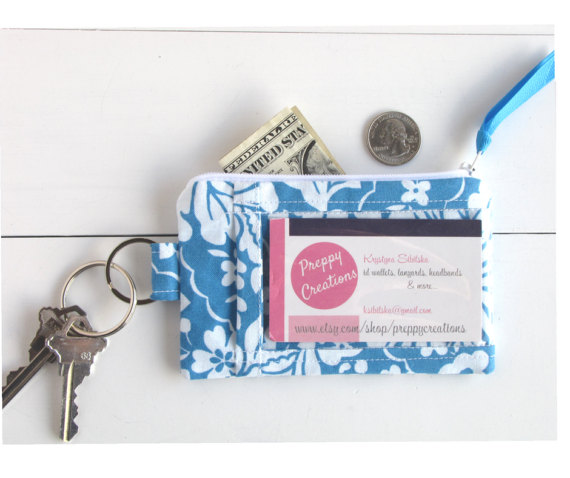 e4210a10234d ID Holder Wallet, ID Lanyard, Badge Holder, Keychain Wallet ID, Minimalist  Wallet