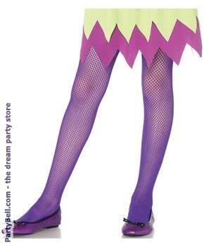 ea85fb0913f5f Kids Fishnet tights - Neon Purple   Costume Accessories-Hats, Wigs ...
