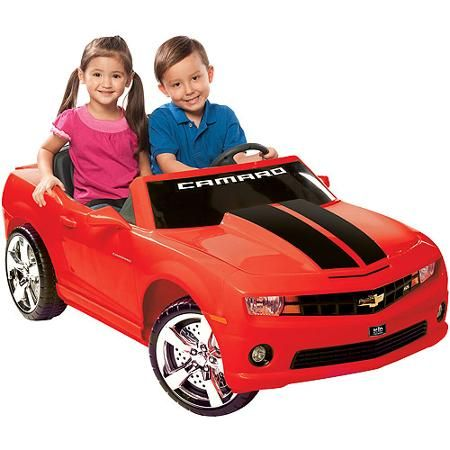 Kid Motorz Chevrolet Camaro 12 Volt Battery Operated Ride On Red With Racing Stripes Walmart Com Red Camaro Camaro Chevrolet Camaro