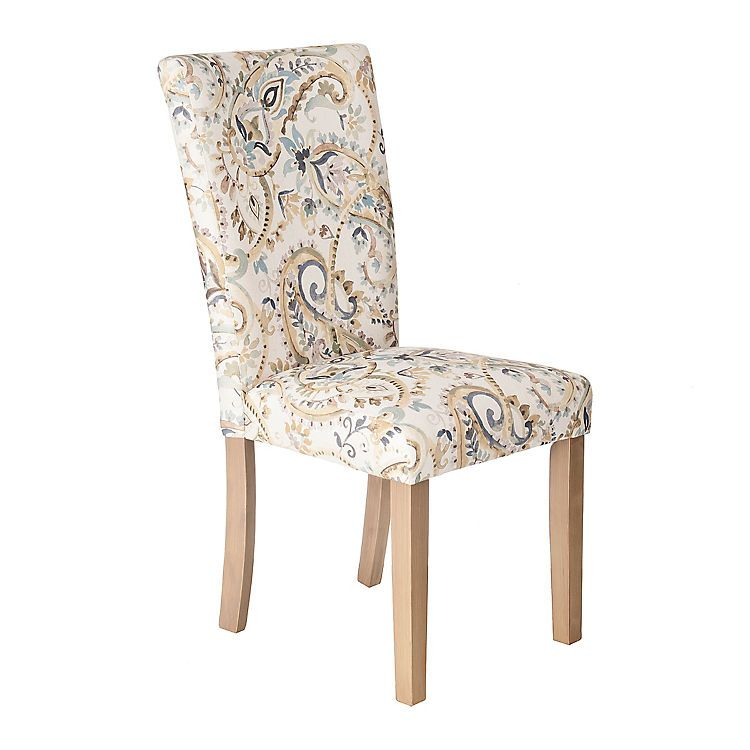 Paisley Watercolor Lagoon Parsons Chair | Kirklands  sc 1 st  Pinterest & Paisley Watercolor Lagoon Parsons Chair | Parsons chairs and Spaces