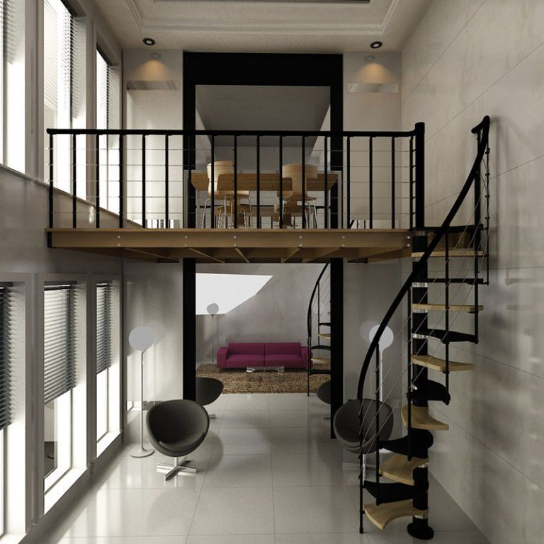 mezzanine face en verre en acier en bois massif rintal apartment therapy en 2018. Black Bedroom Furniture Sets. Home Design Ideas