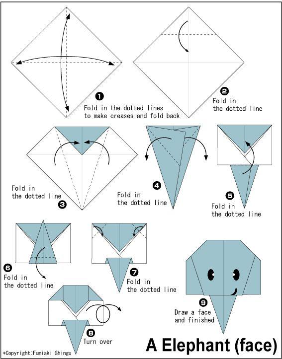 Oragami Elephant Bricolage Pinterest Oragami Origami And Craft