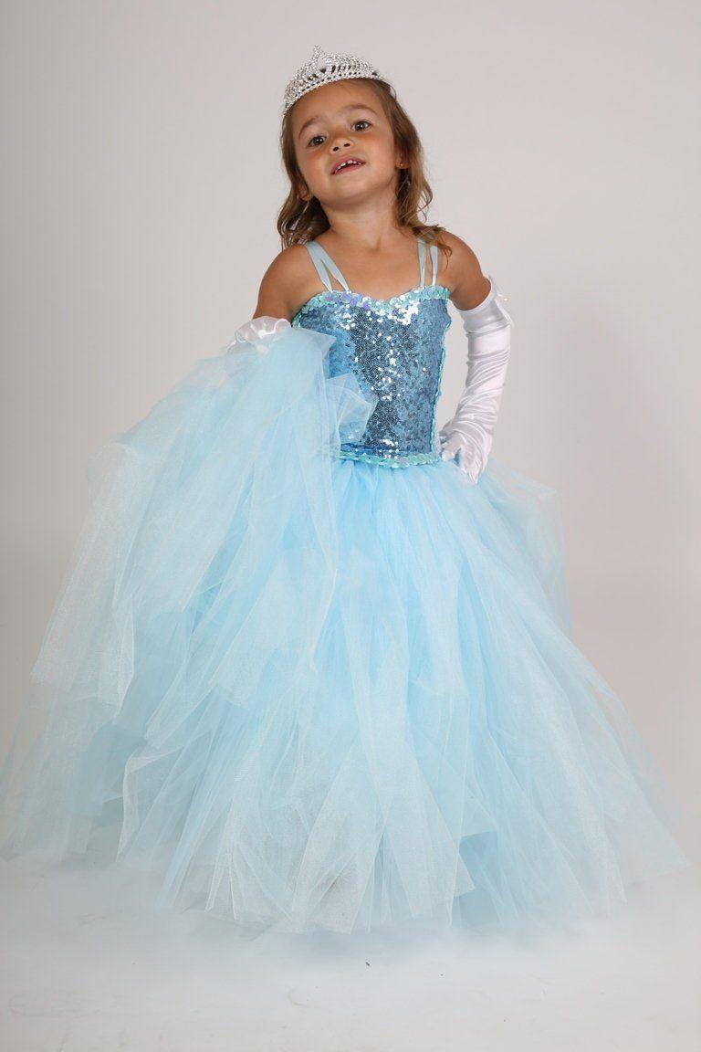 Ceremonial Dress Blue Princess Dress Wedding Tutu Bridesmaid Birthday Gift Christmas Girl Gift Halloween Blue Princess Dress Princess Dress Dresses
