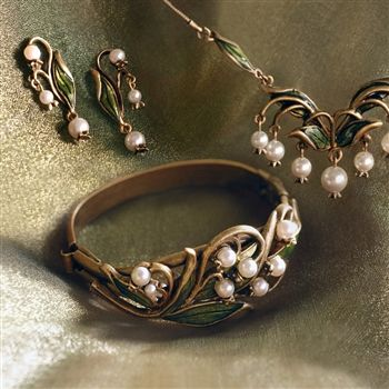 Sweet Romance™ Lily of the Valley Bracelet, Necklace & Earrings