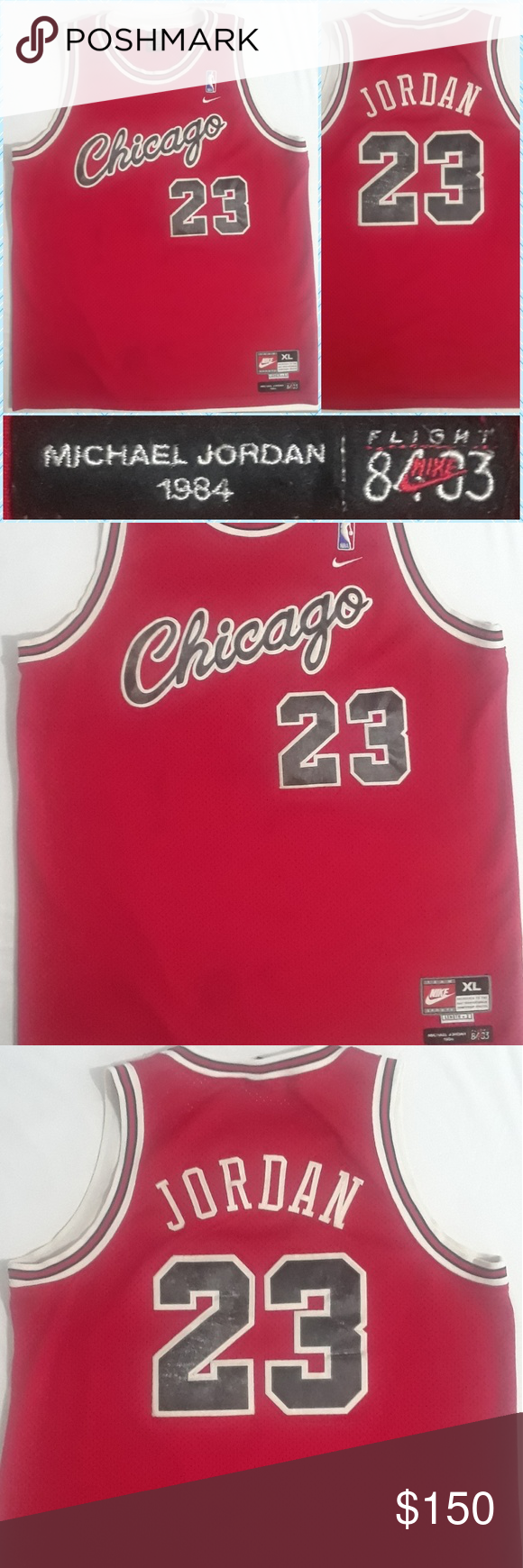 first rate c21d7 fe264 Nike Michael Jordan 1984 Chicago Rookie Jersey Show Your A ...