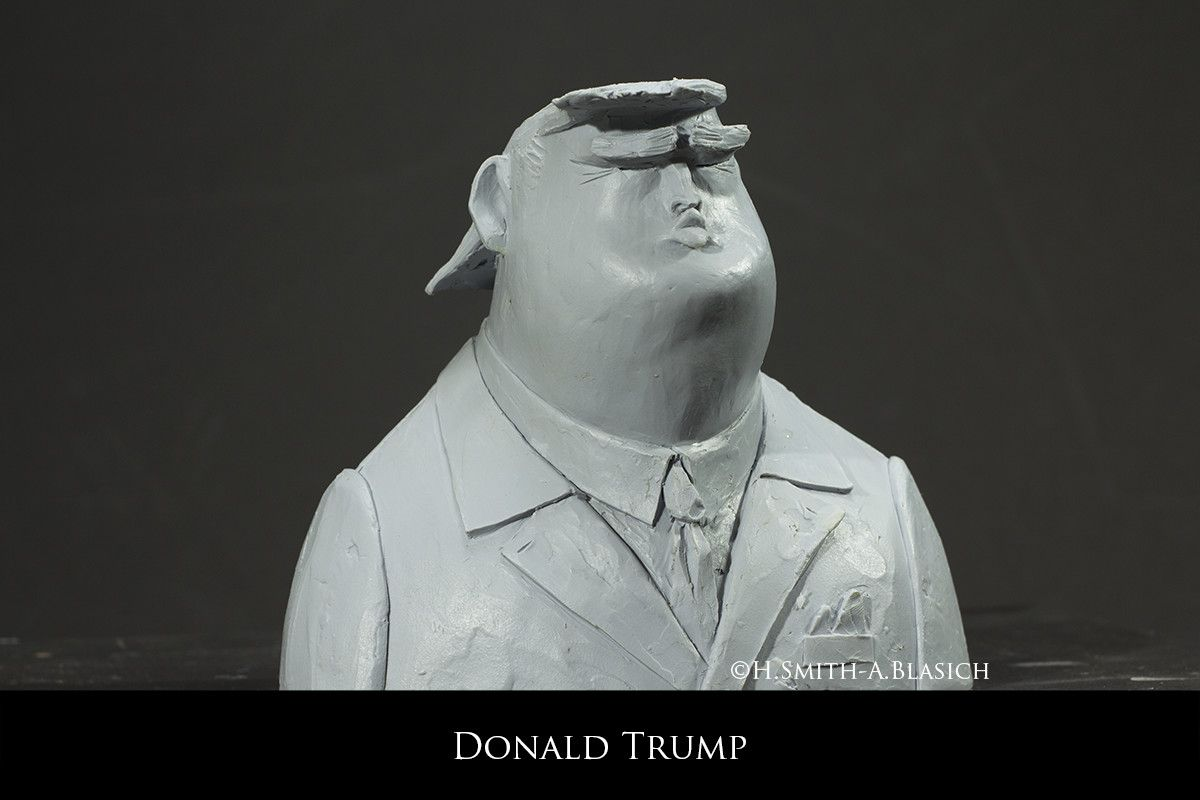 ArtStation Donald Trump Andrea Blasich Characters Stylised