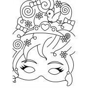 prinses masker maske prinses knutselen knutselen voor