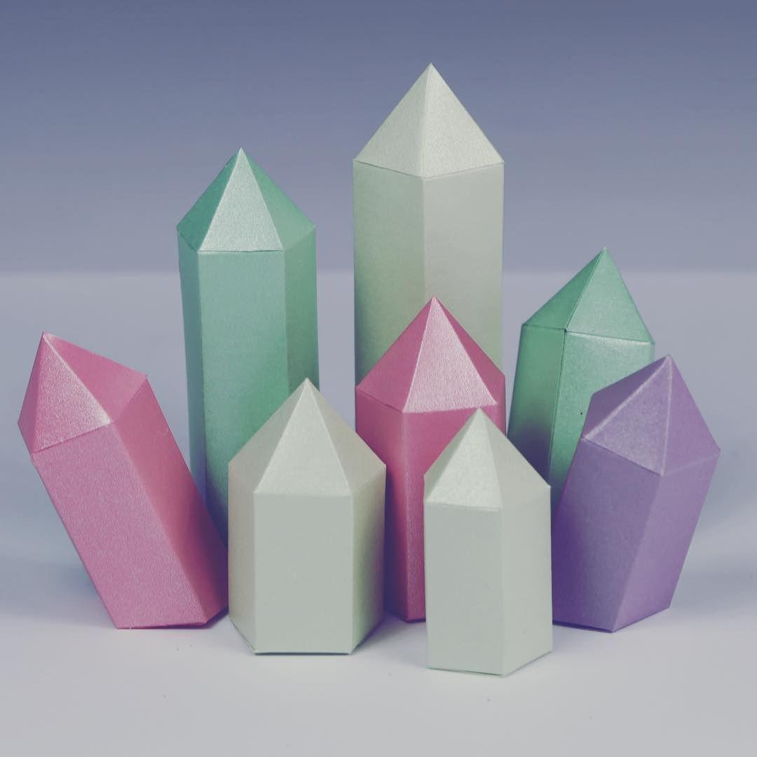 Printable Paper Gems & Crystal Templates   Paper Kawaii - Origami ...