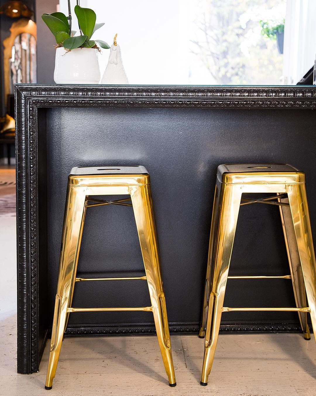 Kitchen Furniture Black Friday: Have A Seat And SHOP These Gold Backless Rochelle Stools