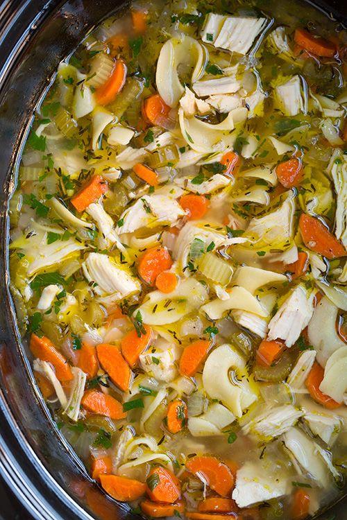 Slow Cooker Chicken Noodle Soup Recipe Noodle Soups