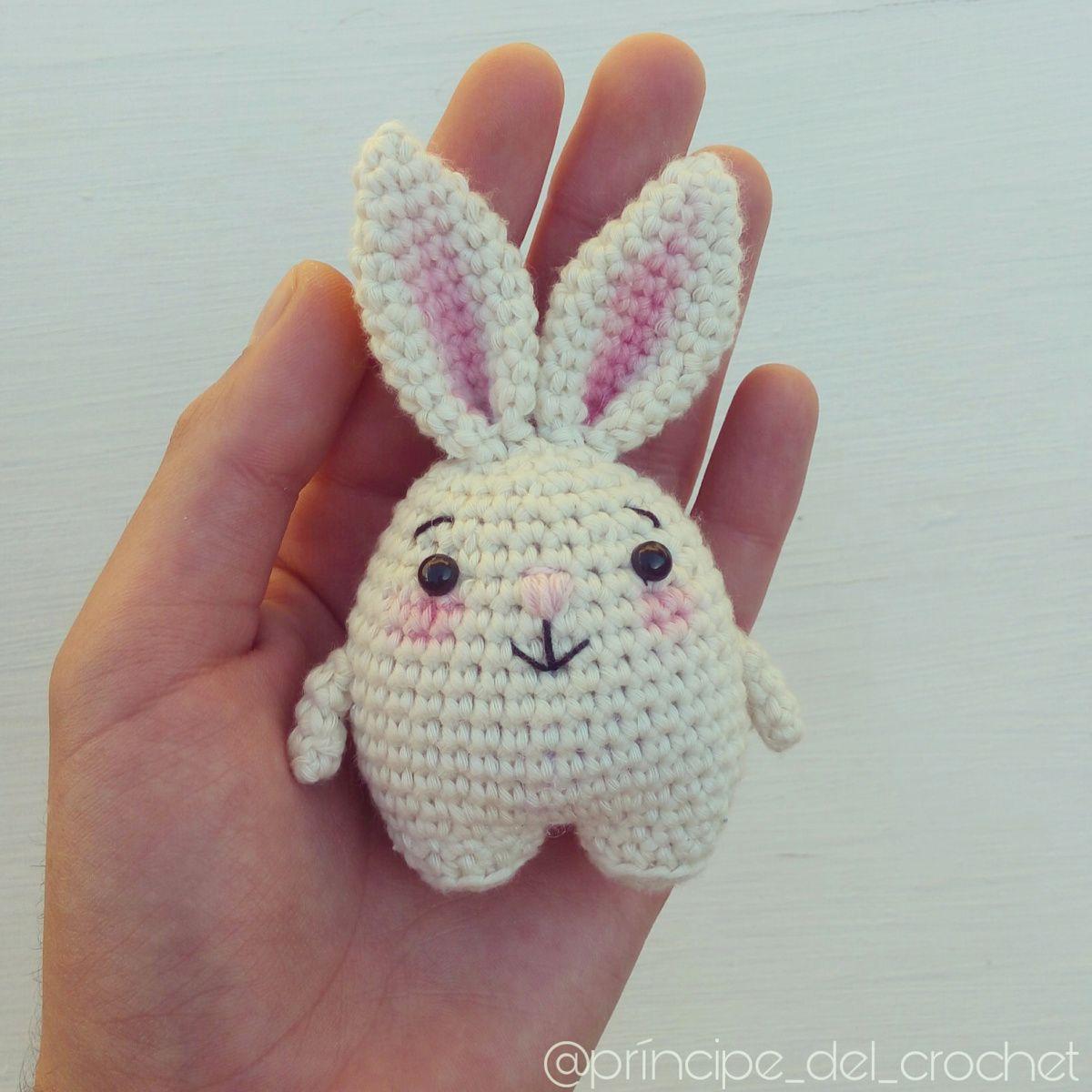 Conejito blanco (patrón gratis) | Crochet (y fieltro) - Animalitos ...