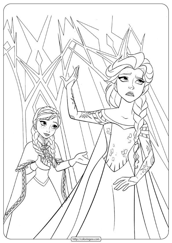 Printable Disney Frozen Anna – Elsa Printable Coloring Pages Elsa Coloring  Pages, Disney Coloring Pages, Disney Princess Coloring Pages