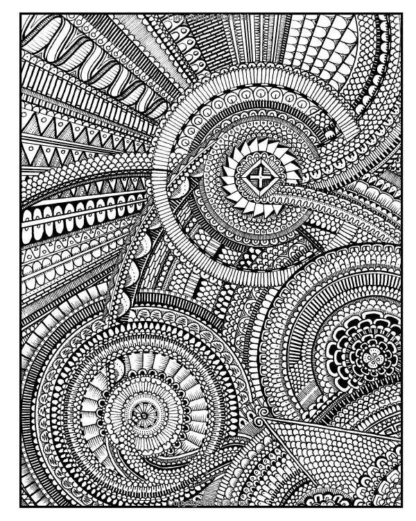 Between The Lines An Expert Level Coloring Book Peter Deligdisch 9781495337116 Amazon Com Books Coloring Books Coloring Pages Mandala Coloring
