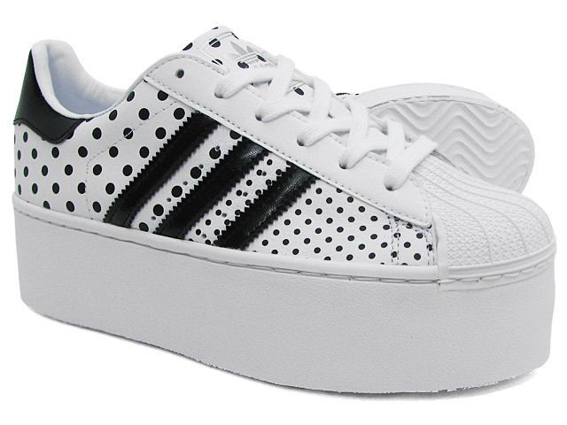 Adidas Superstar 2 Up Wedge Platform Sneakers New, Wht Polka D65180 Selena  Gomez