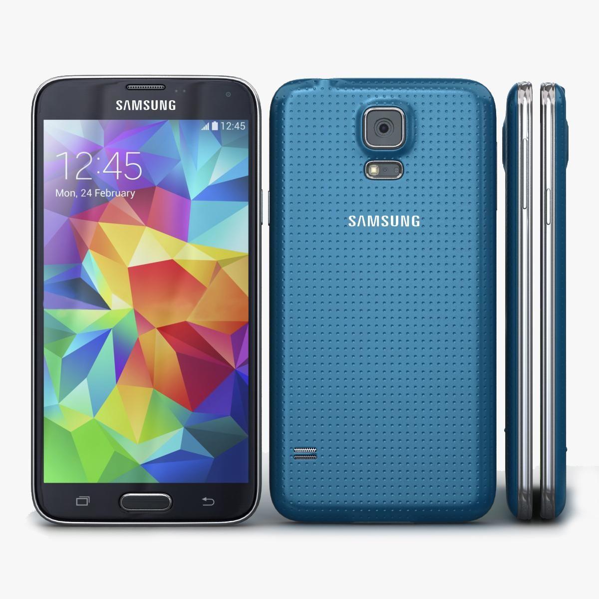 Samsung Galaxy S5 Blue 3D Model AD ,GalaxySamsungModel