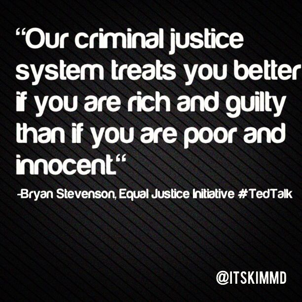 Our Criminal Justice System Treats You Better If You Are Rich And