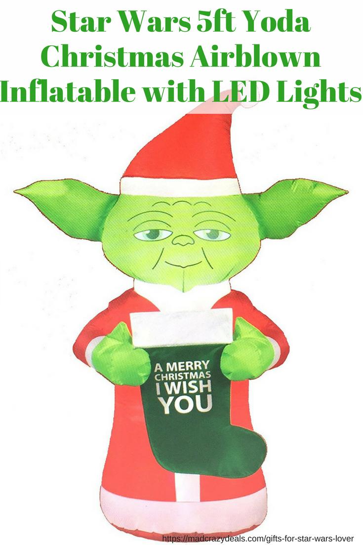 blow up yoda christmas decoration - Star Wars Blow Up Christmas Decorations