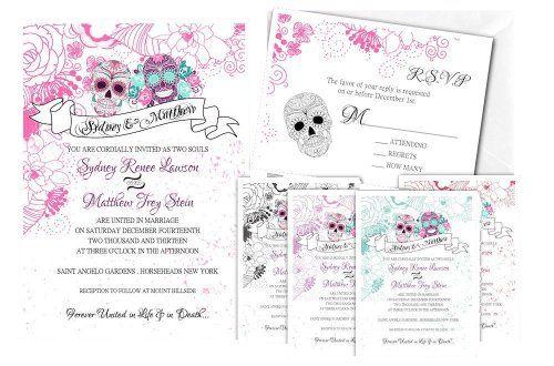 Sugar Skull Wedding Invitations Dia De Los Muertos Skelet... https://www.amazon.com/dp/B00IHNAZ5M/ref=cm_sw_r_pi_dp_x_HgohybV86V5DB