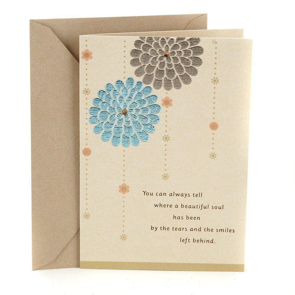 Hallmark sympathy greeting card beautiful
