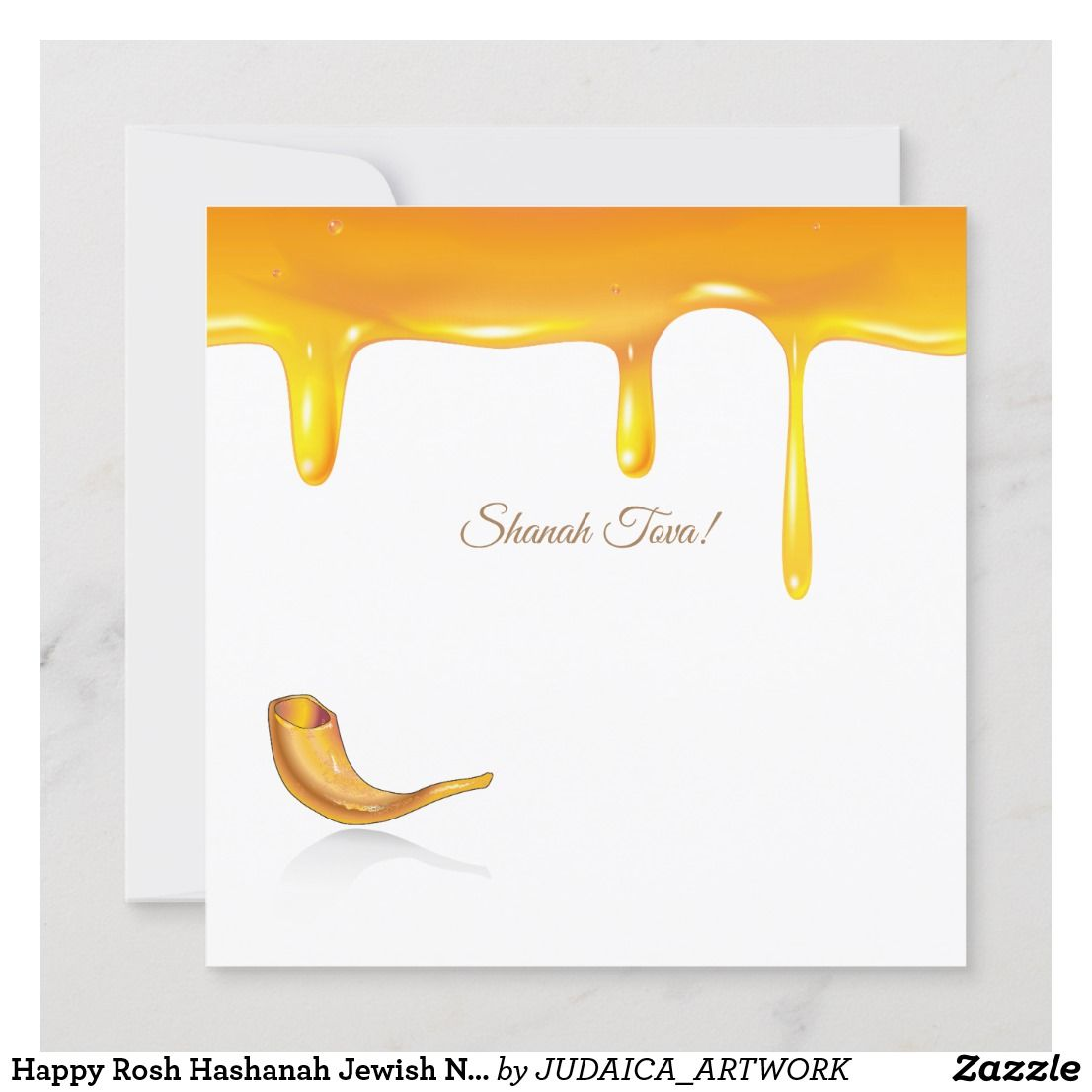 Happy Rosh Hashanah Jewish New Year Greeting Card | Zazzle.com #shanatovacards