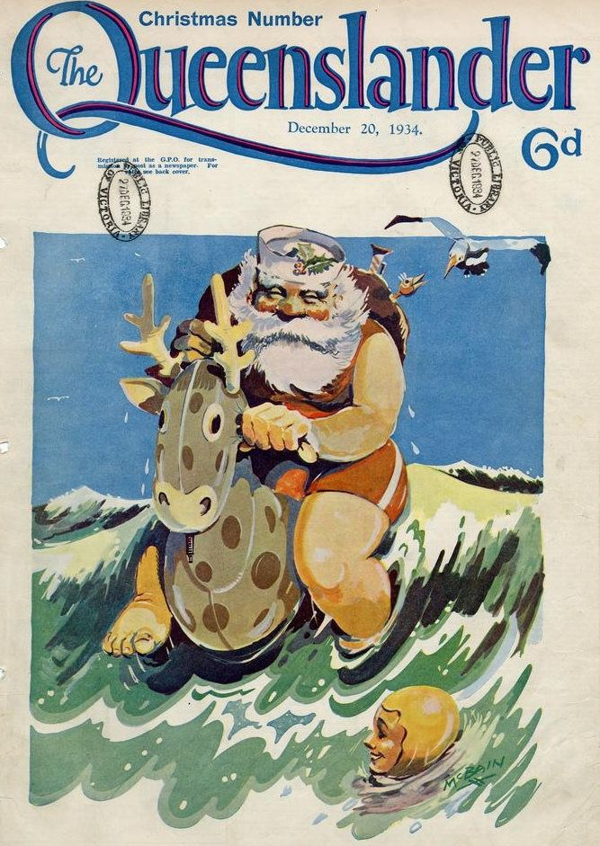From Gift-Giving Koalas to Surfing Santa, How Christmas Imagery Gets ...