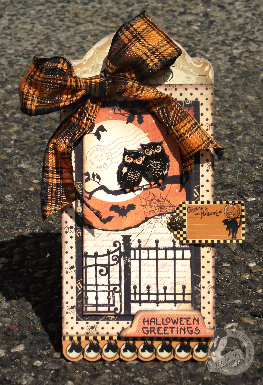 Hallowe'en Greetings Tag Halloween paper