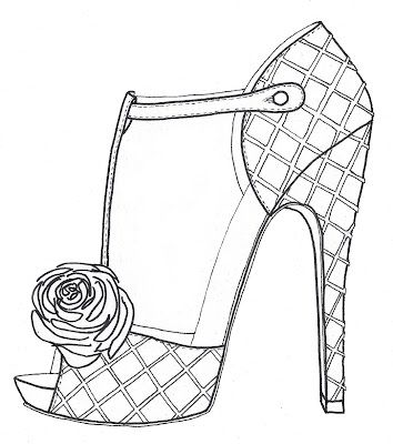 photo relating to High Heel Shoe Template Printable called Substantial Heel Footwear ~ The Modellista: Wrapping Elements Up and