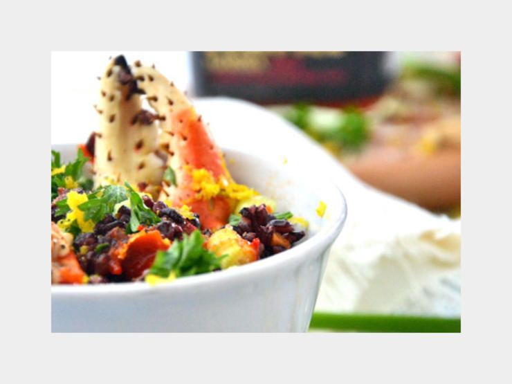 Snow Crab Black Rice http://www.prevention.com/mind-body/natural-remedies/25-delicious-and-clean-detox-dishes/snow-crab-black-rice