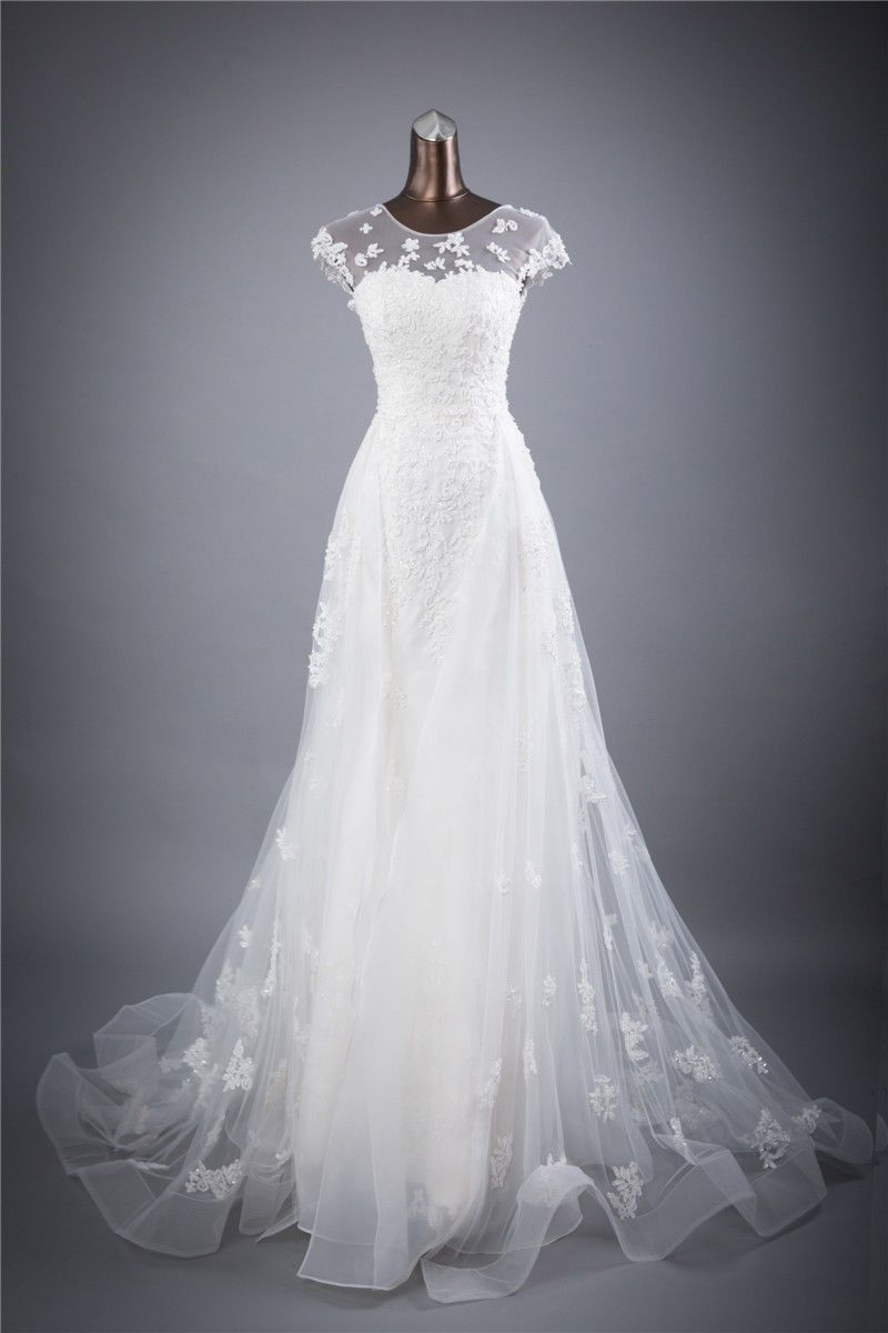 Hs new whiteivory high quality bride dress lace wedding dress