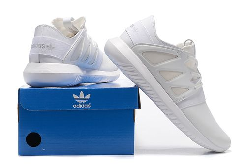 hot sale online 270ef 3fdc6 Unisex Adidas Tubular Viral All White Trainers - Tubular