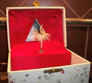 Vintage 60s 70s Music Box Ballerina Jewelry Box Made in Japan
