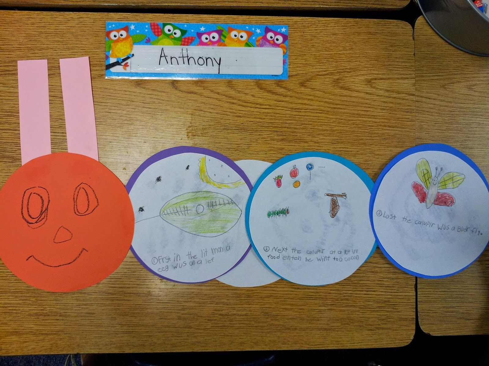 The Very Hungry Caterpillar Retelling Beginning Middle