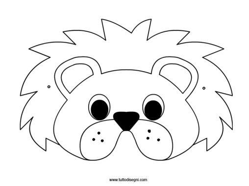 Maschera Leone 2 Carnevale Progetti Artistici Per Bambini E