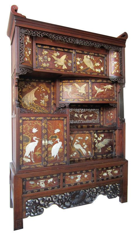 Antique Japanese Inlaid Tansu. WOW !!! - Antique Japanese Inlaid Tansu. WOW !!! Mother Of Pearl
